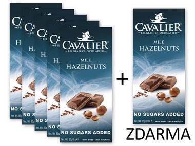 Cavalier Čokoláda MILK HAZELNUTS 5+1 ZDARMA