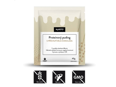 MyKETO Proteinový puding s příchutí bílá čokoláda, 1x40 g