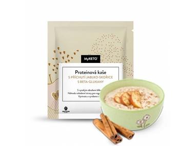 MyKETO Proteinová kaše s příchutí jablko-skořice s beta-glukany, 40 g