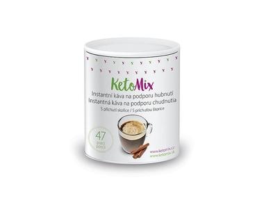 KetoMix Instantní káva na podporu hubnutí s příchutí skořice (47 porcí)