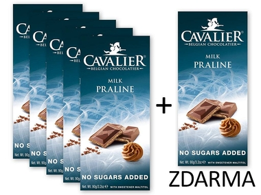 Cavalier Čokoláda MILK PRALINE 5+1 ZDARMA