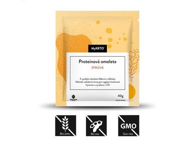 MyKETO Proteinová omeleta sýrová, 5x40 g