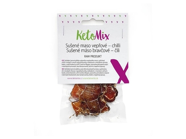 KetoMix Sušené maso vepřové – chilli