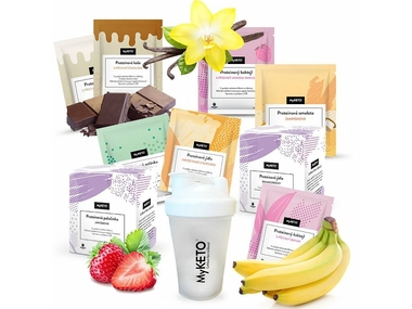 MyKETO proteinová keto dieta MAXI PLATINUM, výhodný dietní balíček 154 jídel(dieta na 5 týdnů)