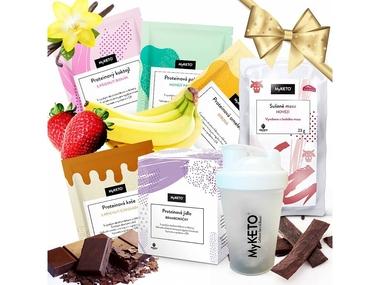 """MyKETO proteinová keto dieta - dietní balíček """"Darujte štíhlost"""", 19x40g"""