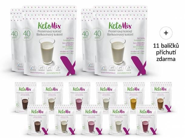 Proteinový koktejl KetoMix – 140 porcí + 20 porcí ZDARMA