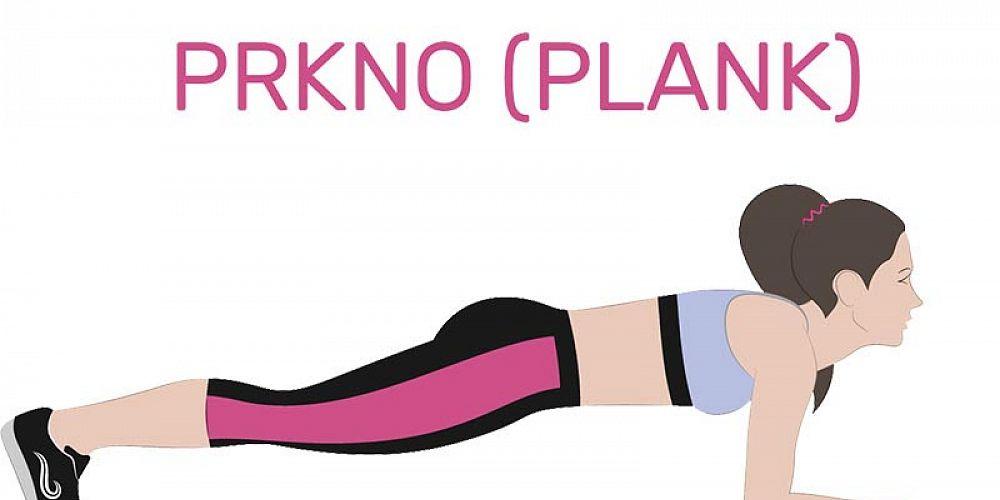 Plank - cviky na břicho - Shutterstock
