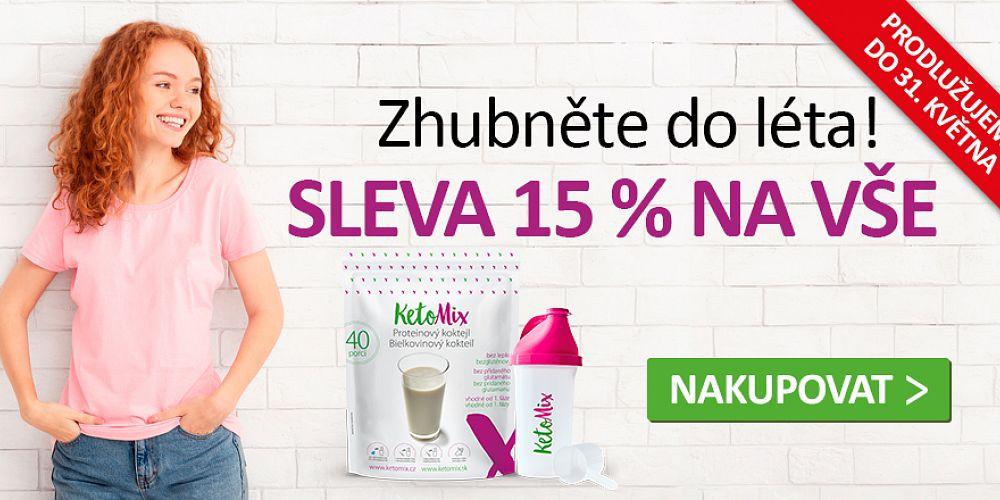 Sleva 15% na vše u KetoMixu! Zdroj: KetoMix.cz