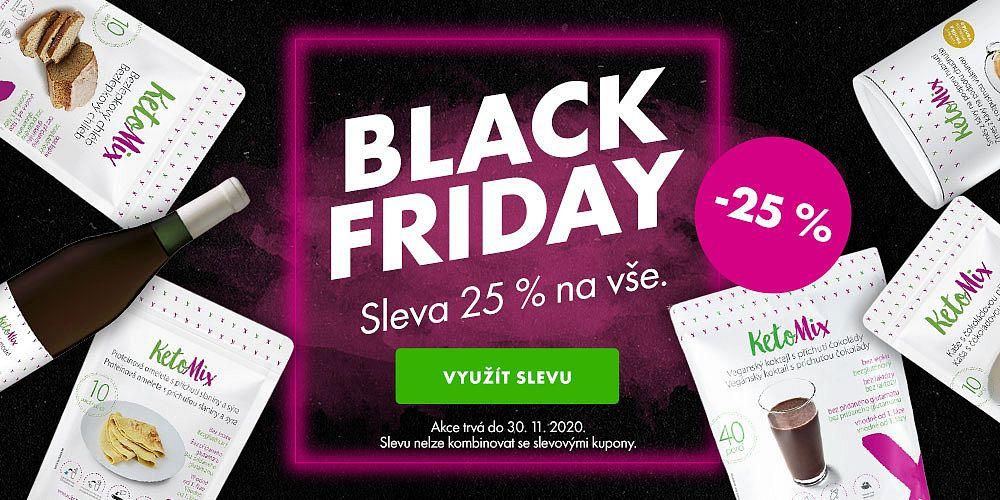 KetoMix.cz - Černý pátek přichází s KetoMixem. 25% sleva na vše platí celý tento týden