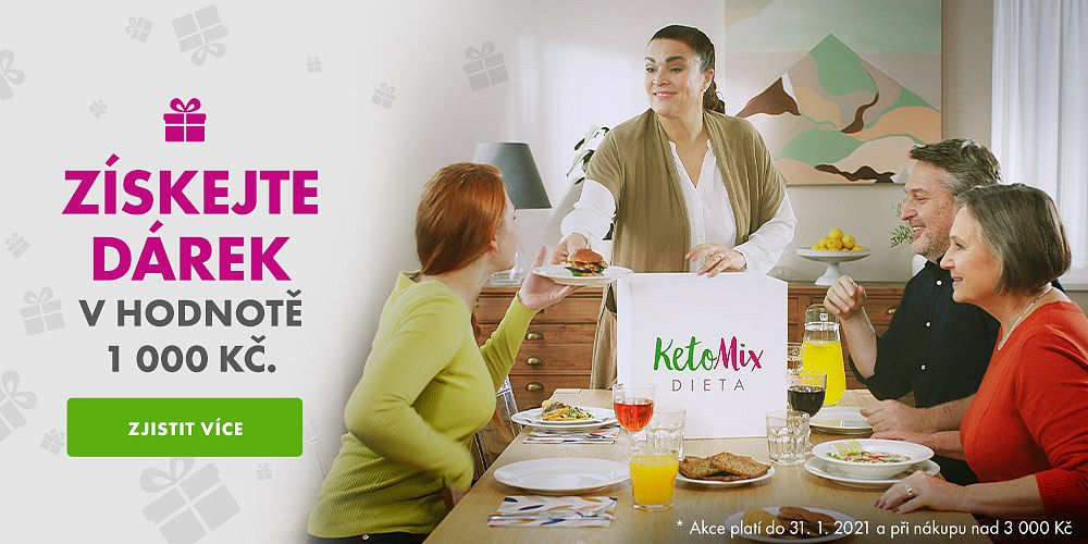 KetoMix.cz - Novoroční hubnutí může začít! Získejte dárek u KetoMixu za 1 000 Kč při nákupu nad 3 000 Kč