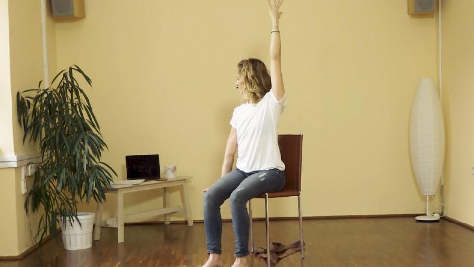 Uvolňovací cvičení na židli