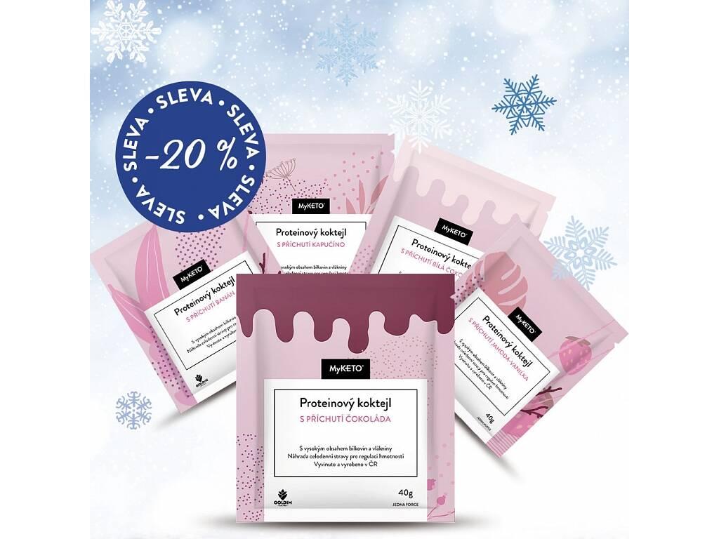 MyKETO Zimní proteinové koktejly výhodný dietní balíček 16×40g