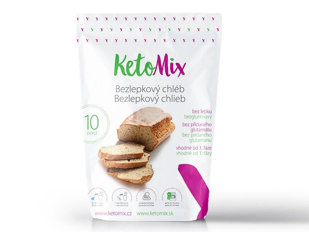 KetoMix Proteínový bezlepkový chlieb (10 porcií) 300 g