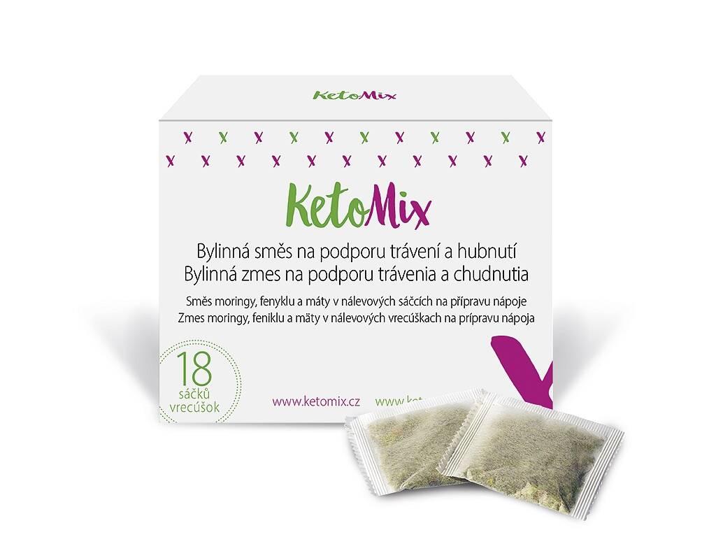 KetoMix Bylinná zmes na podporu trávenia a chudnutia (18 vreciek)