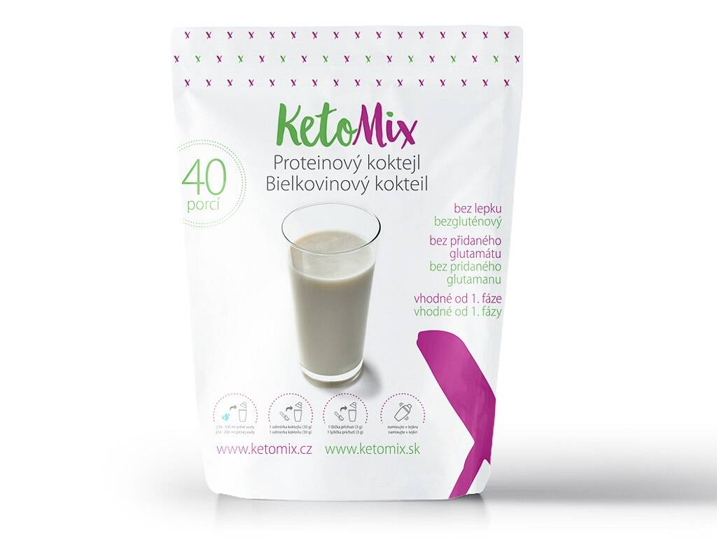 KetoMix Proteínový kokteil (40 porcií) 1 200 g