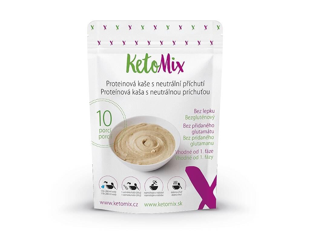 KetoMix Proteínová kaša 280 g (10 porcií) - s neutrálnou príchuťou