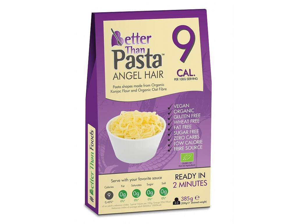 Better Than Foods Konjakové bezsacharidové vlasové nudle 385 g