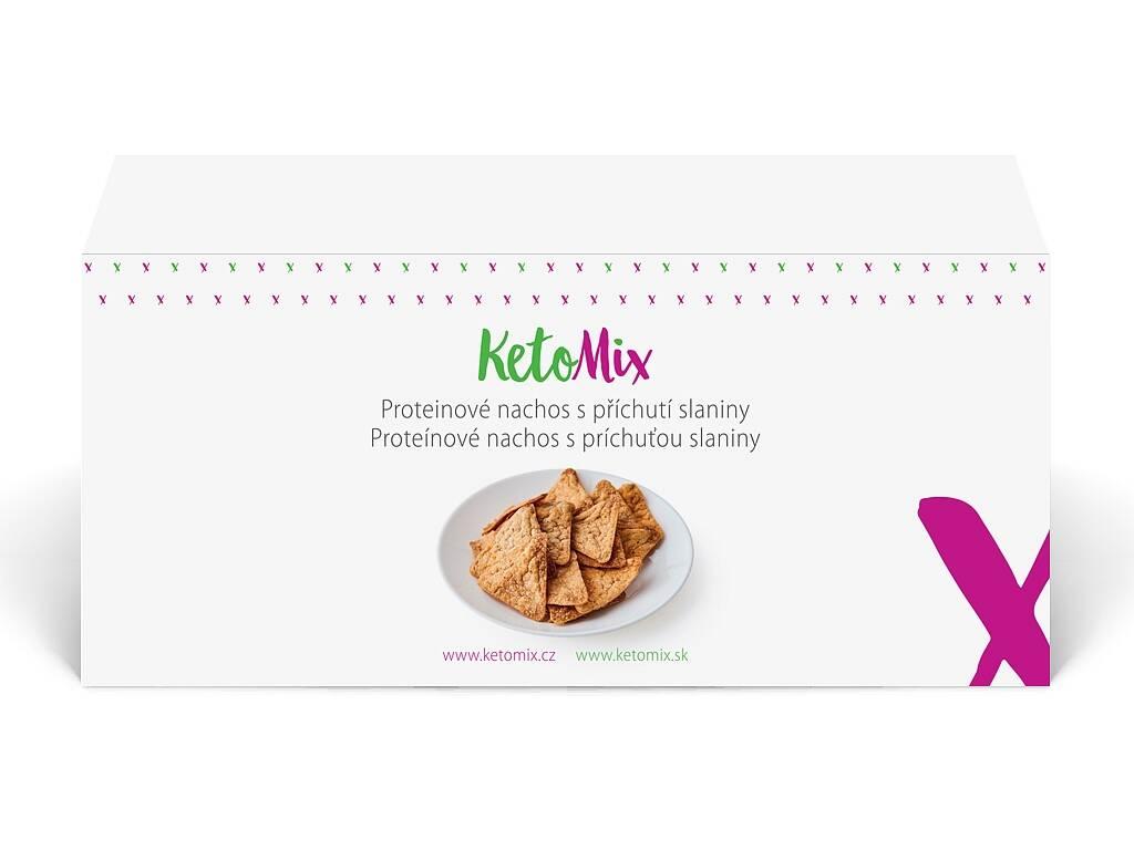 KetoMix Proteínové nachos - slanina (4 porcie) 120 g