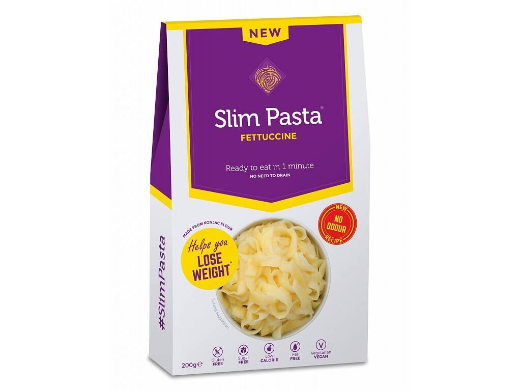 Slim Pasta Fettuccine 2. generace - konjakové nudle ve tvaru fetučín bez nálevu a aroma 200g