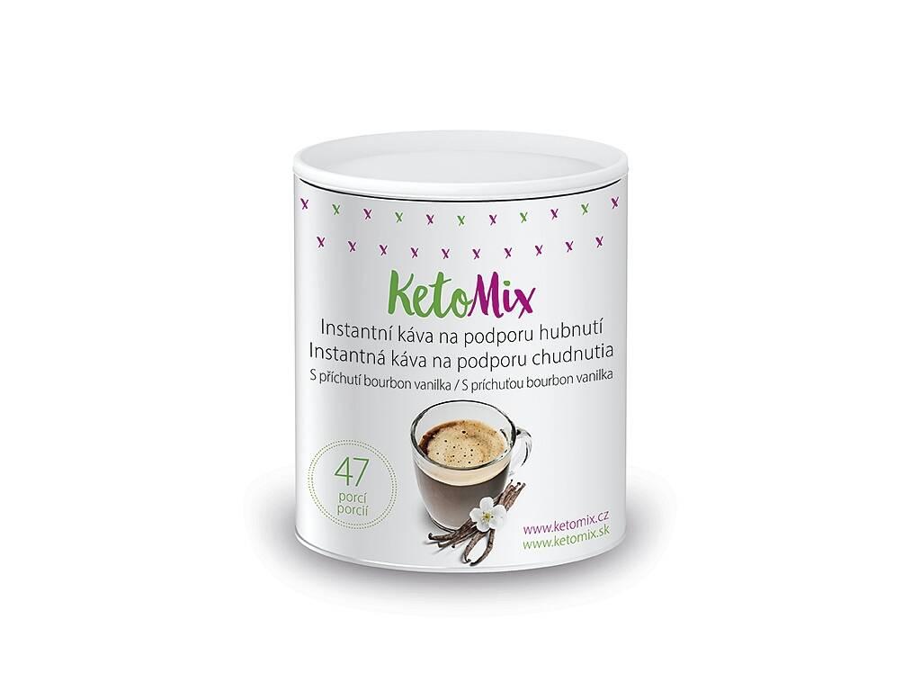 KetoMix Instantná káva na podporu chudnutia s príchuťou vanilky (47 porcií)