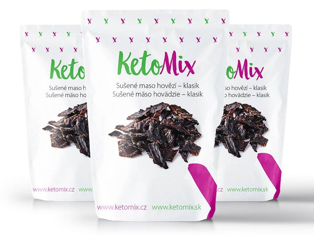 KetoMix Sušené mäso hovädzie – klasik (3 porcie) 90 g