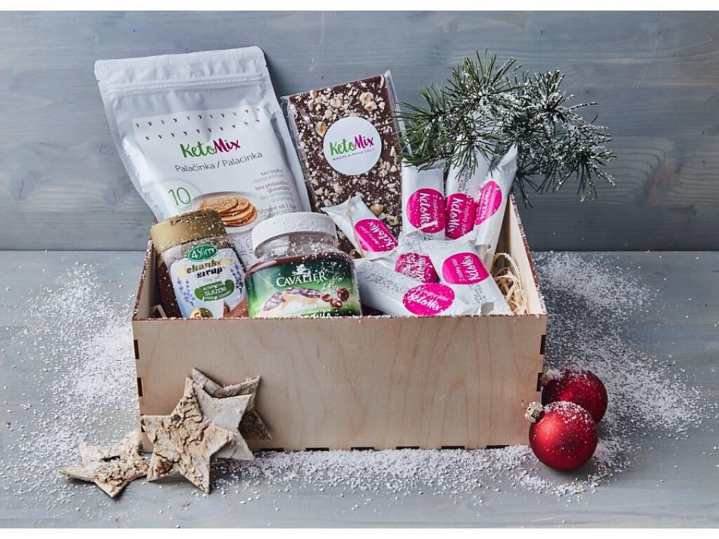 Vánoční balíček keto diety Balení: v papírové krabici