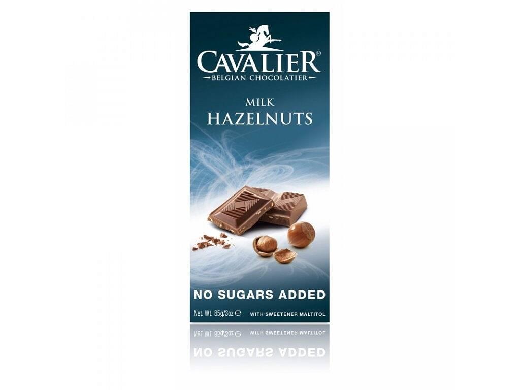 Cavalier Čokoláda MILK HAZELNUTS (sladená maltitolom) 85 g