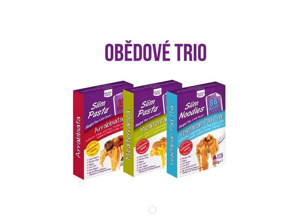 Obědové trio - 3 kusy Slim Pasta hotových jídel