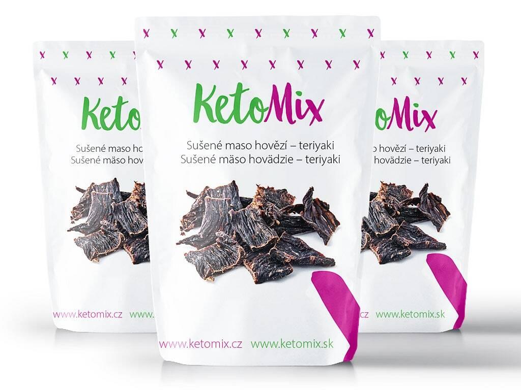 KetoMix Sušené mäso hovädzie – teriyaki (3 porcie) 90 g