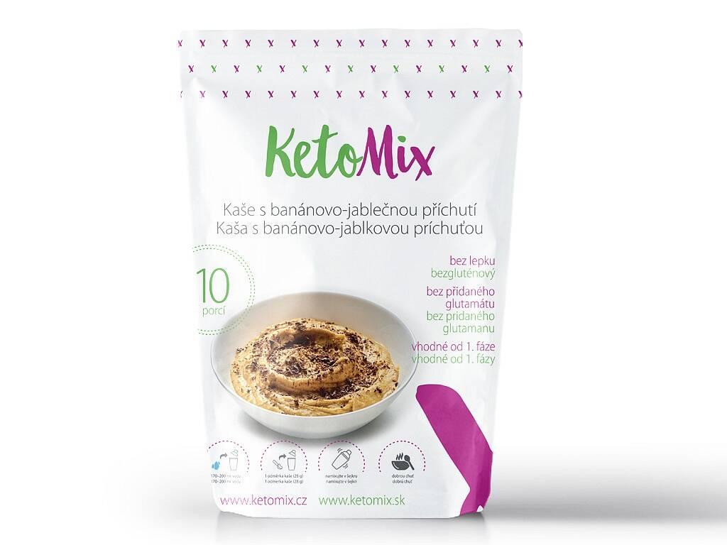Proteínová kaša KetoMix - s banánovo-jablkovou príchuťou (10 porcií) 280 g