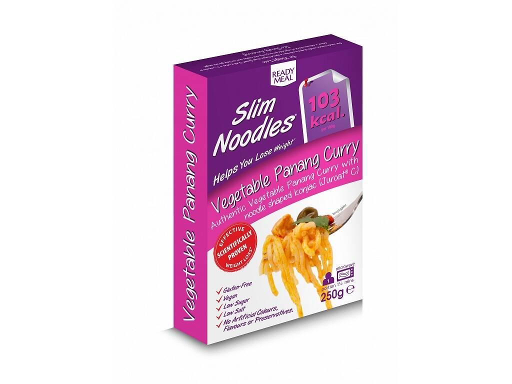 Slim Noodles Zeleninové Panang Kari  - Hotové jídlo s asijskou omáčkou 250g