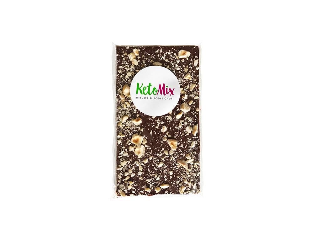 KetoMix 52% MLIEČNA čokoláda S LIESKOVÝMI ORIEŠKAMI (sladená erythritolom) 68 g