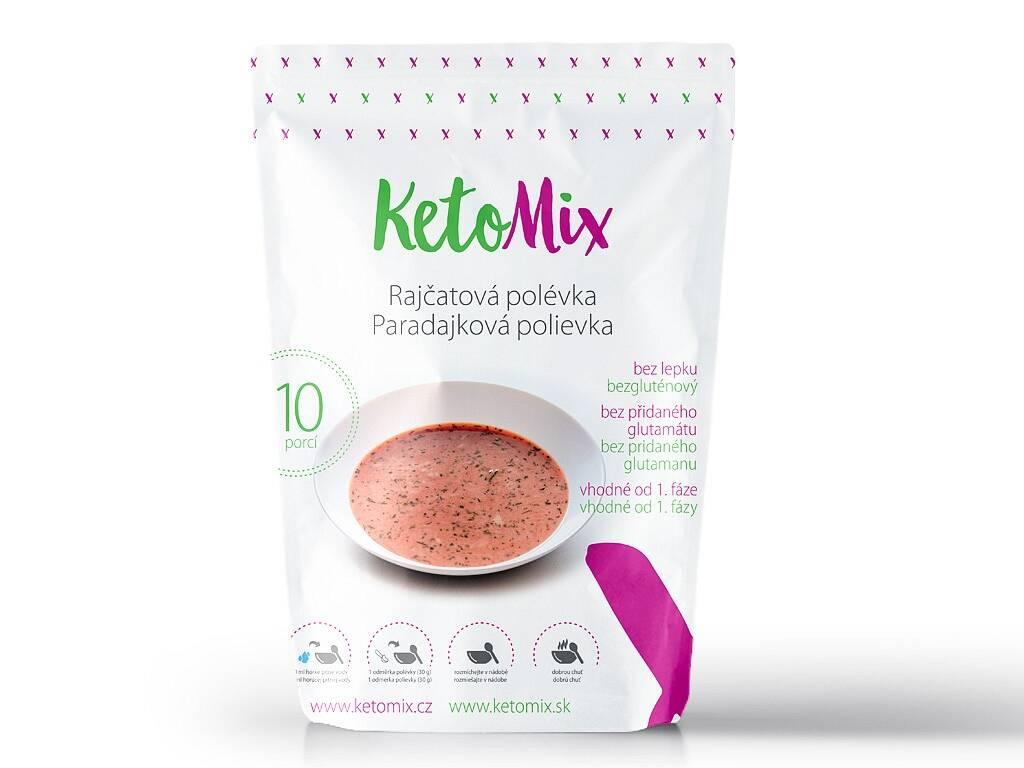 KetoMix Proteínová polievka - paradajková (10 porcií) 300 g