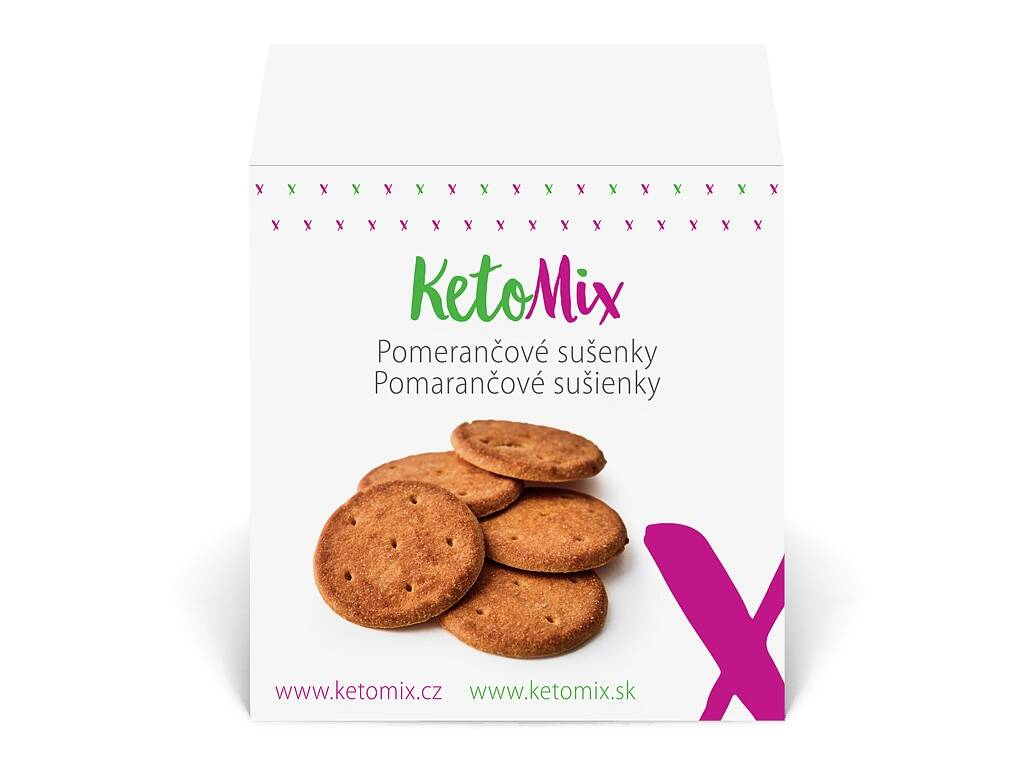 KetoMix Pomarančové sušienky (30 sušienok) 225 g