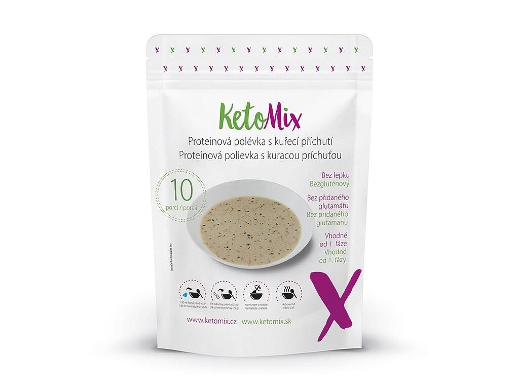 KetoMix Proteínová polievka s kuracou príchuťou (10 porcií) 250 g
