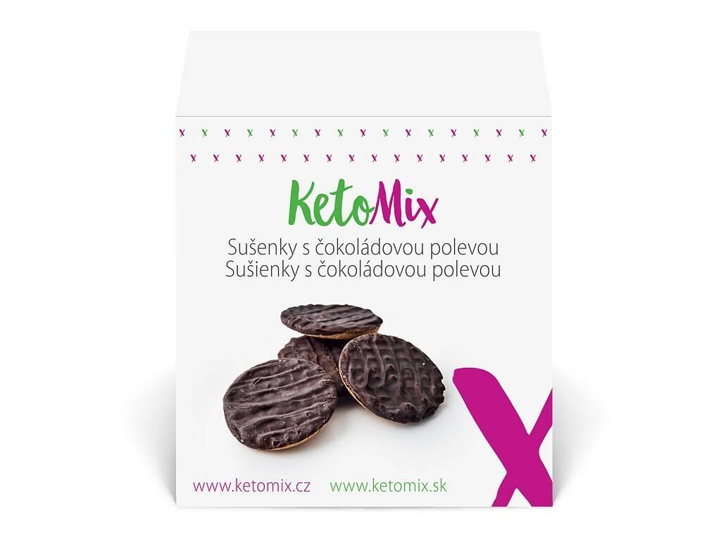 KetoMix Sušienky s čokoládovou polevou (24 sušienok) 264 g