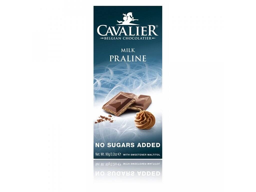 Cavalier Čokoláda MILK PRALINE (sladená maltitolom) 90 g