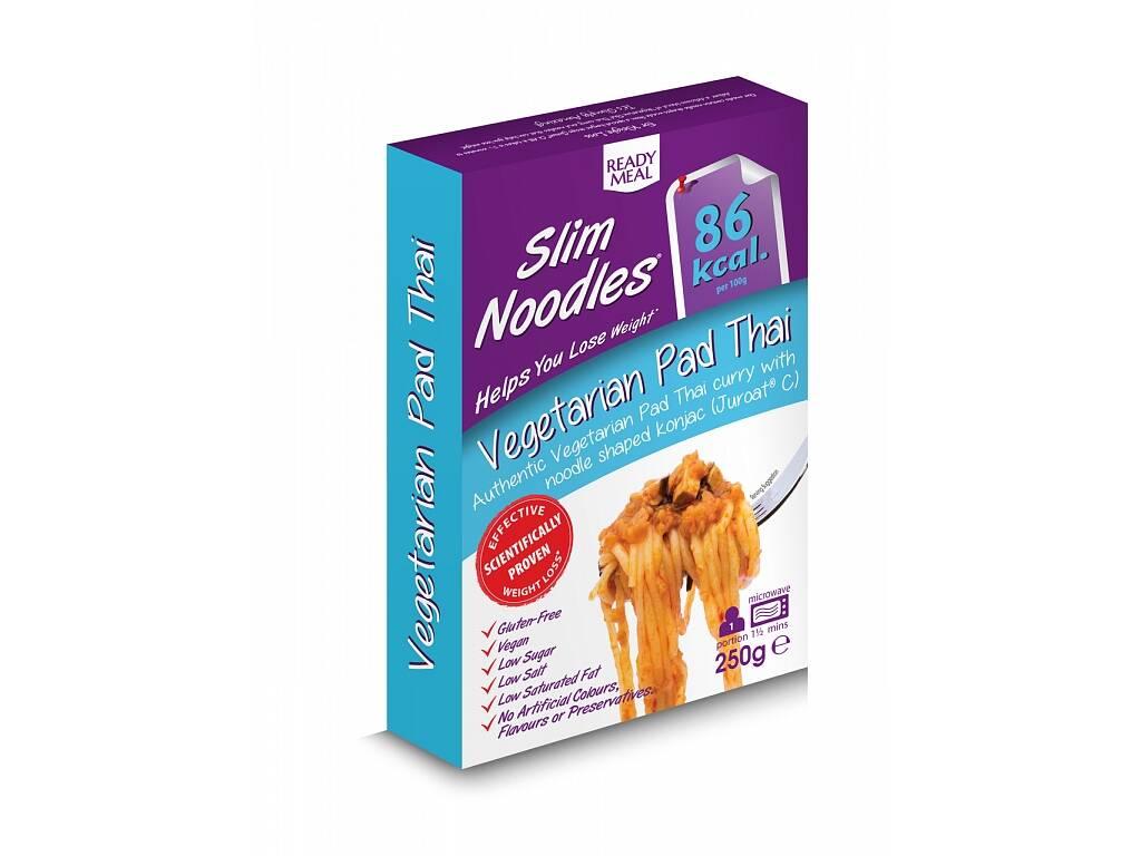 Slim Noodles Zeleninové Pad Thai - Hotové jídlo s asijskou omáčkou 250g