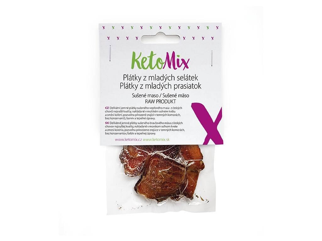 KetoMix Sušené mäso – plátky z mladých prasiatok