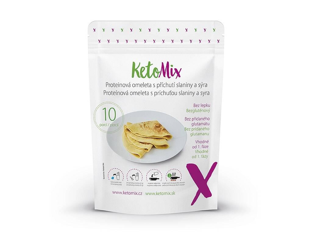 KetoMix Proteínová omeleta s príchuťou slaniny a syra (10 porcií) 250 g