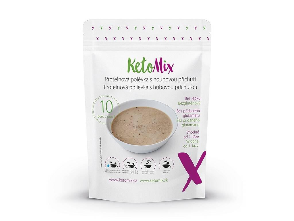 KetoMix Proteínová polievka s hubovou príchuťou (10 porcií) 250 g