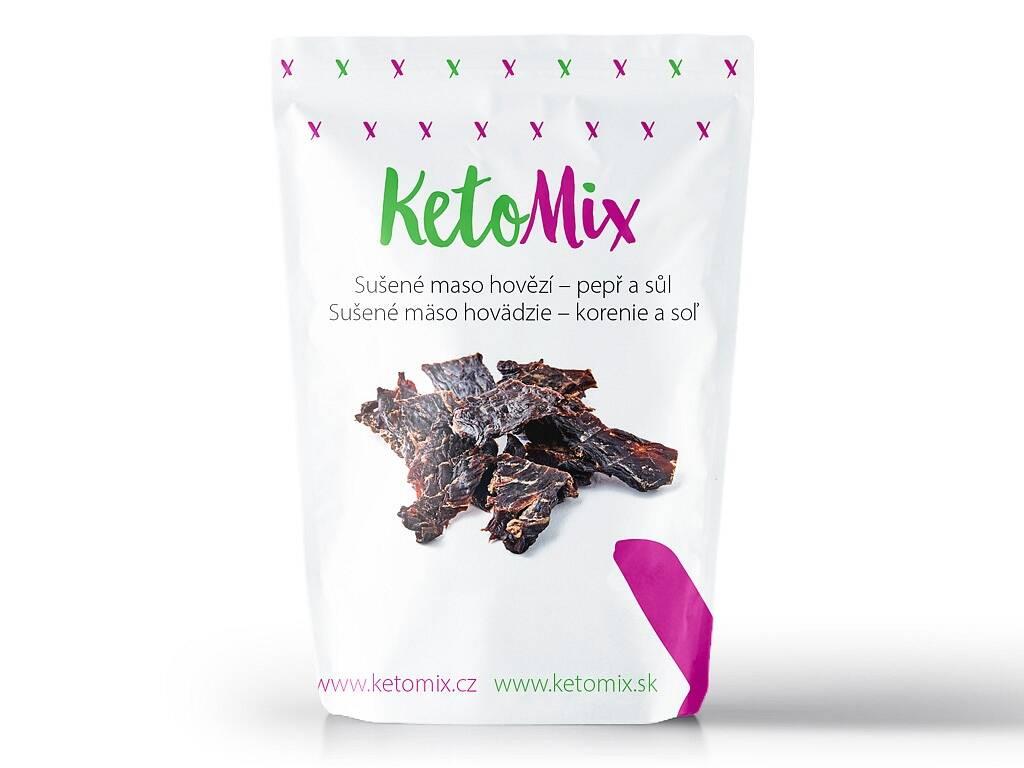 KetoMix Sušené maso hovězí - pepř a sůl (1 porce)