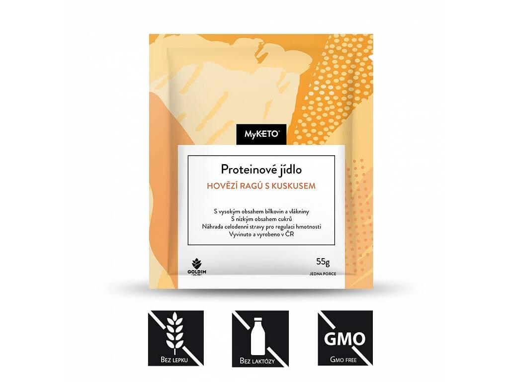 MyKETO Proteinové jídlo hovězí ragú s kuskusem, 1 porce