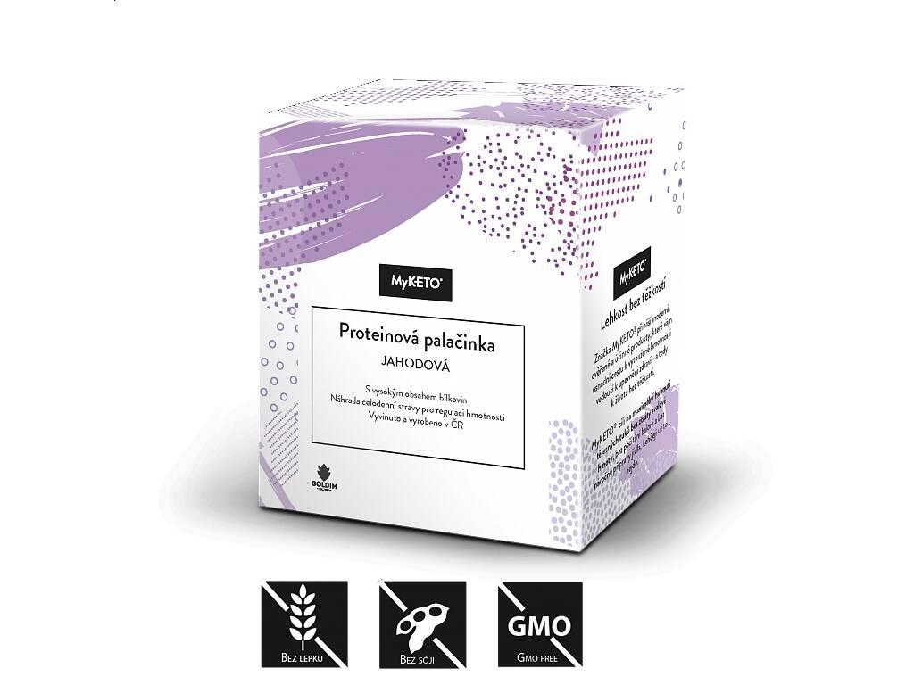 MyKETO Proteinová palačinka jahodová, 5x40 g