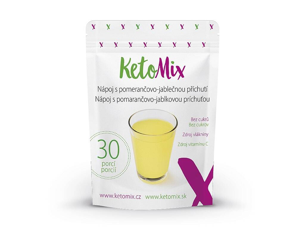 KetoMix Nápoj s pomerančovo-jablečnou příchutí