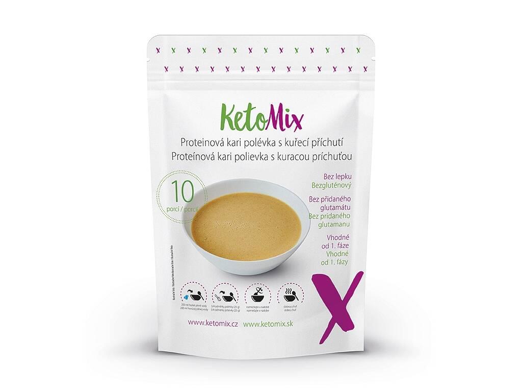 KetoMix Proteínová kari polievka s kuracou príchuťou (10 porcií) 250 g
